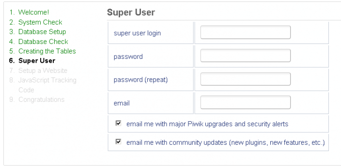 Super User nastavenie