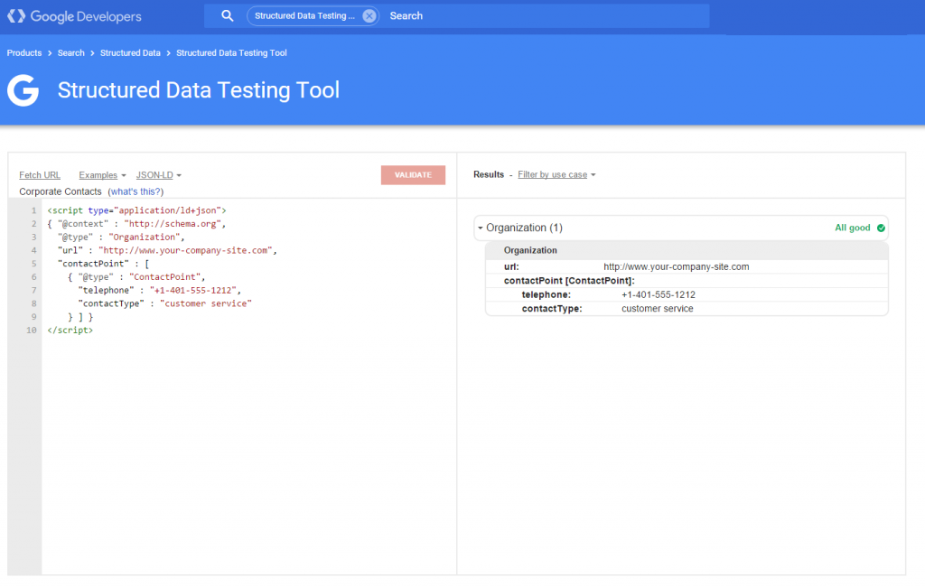 structure data testing google